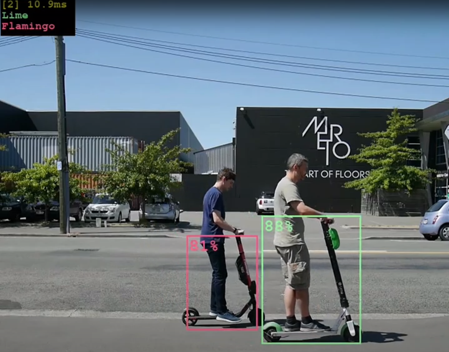 Intranel is using AI to track and identify scooters.