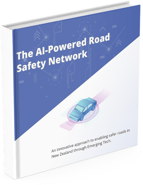 "Ebook with the title ""The AI-Powered Road Safety Network"""